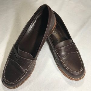 Timberland Leather Slip On Penny Loafers - GUC